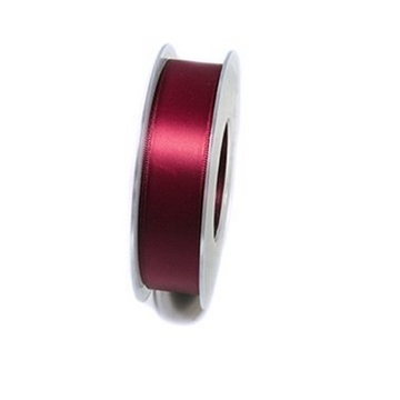 Bånd Satin 25mm bordeaux pris pr meter